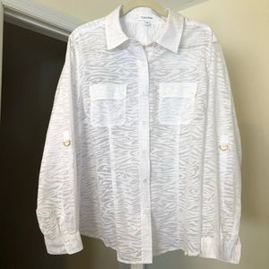 Calvin Klein White Button Down